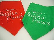 PERSONALISED CHRISTMAS DOG BANDANAS ANY NAME YOU WOULD LIKE EMBROIDERED ON