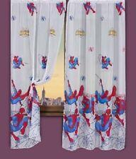 Rideau ; paire de voilages , chambre Enfant / Garçon Spiderman , larg. 2 x 92cm