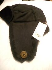 UGG Baily Aviator Shearling Sheepskin Hat, Bk, SEE DESCRIPTION for PICTURES