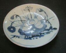 ANCIEN assiett ceramique CHINE BLEU BLANC ANTIQUE CHINESE BLUE WHITE KANGXI 1900