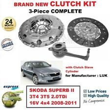 Para Skoda Superb 3T4 3T5 2.0TDi 16V 4x4 2008-2011 Nuevo 3PC Kit de Embrague +
