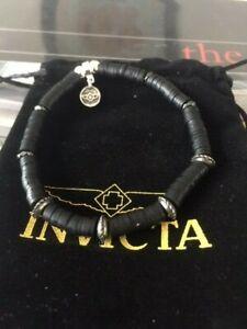 Invicta Elements Men's Rubber Bracelet, Black (35969)