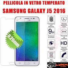 Pellicola vetro temperato per Samsung Galaxy J5 2016 SM-510F Protezione Schermo