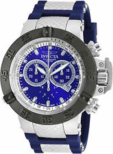 90128 Invicta 50mm Subaqua Noma III Swiss Chronograph Blue Silicone Strap Watch