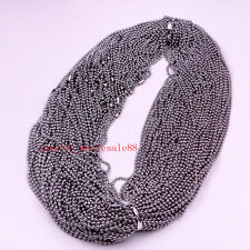100pcs Thin Beads Chain Stainless Steel Jewelry Marking Necklace Chain 2mm 24 in