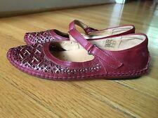 Pikolinos Sandia Red Mary Jane Flats Shoes Women's 36 / 5.5 - 6