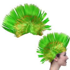 Dazzling Toys Blinking LED Green Mohawk Wig Unisex Halloween Fancy Punk Costume