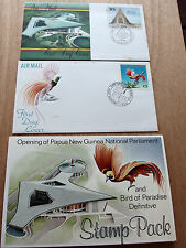 PNG 1984 Bird of Paradise K5 + Openning National Parliament stamp pack + FDC