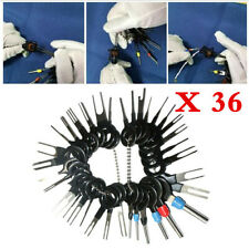 36Pcs Wire Terminal Removal Tool Car Electrical Wiring Crimp Connector Pin Kits