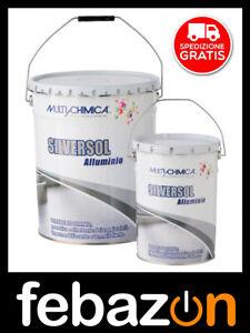 Vernice alluminio Silversol Multichimica impermeabilizzante da 20lt per terrazzi
