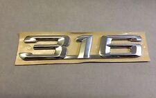 """BMW Schriftzug E36 Emblem Logo """" 316 """"  aus Chrom selbstklebend NEU & ORIGINAL!"""