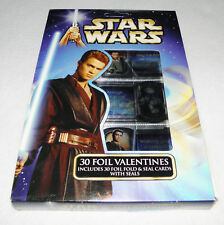 STAR WARS Vintage 30 Foil Valentines Cards and Seals 2002 Paper Magic Group NEW
