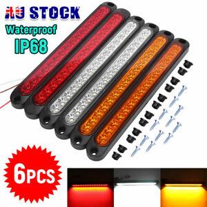 15 LED Tail Lights UTE STOP Brake Indicator Reverse Slim Strip RV Trailer Light