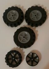 """New listing Knex Lot- Wheels & Tires Large 3-1/2"""" + Motorcycle Wheel & Tire + Extra Wheel"""