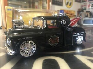 Jada 1/24 1955 Chevy Pickup Towtruck With Blower.
