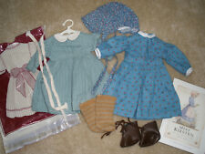 Pleasant Company, American Girl Kirsten Work Dress & Meet Outfit w/ Book - EUC!