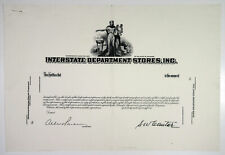 """Interstate Department Stores. """"Toys """"R"""" Us Predecessor Co. 1960s Proof Stock"""