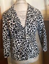 Chico's Black & White Animal  Print Jacket Blazer Chico's Size 1 Women's 8-10