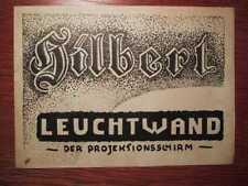 FILM TECHNIK - HILBERT- Leuchtwand - Der Projektionsschirm - Prospekt (1938)