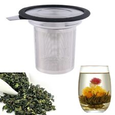 Tea Infuser Stainless Steel with Lid Drip Tray Brew-in-Mug Tea Strainer Filter