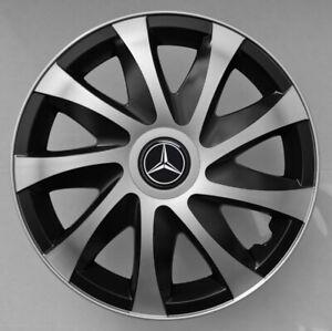 16'' Wheel trims for Mercedes Sprinter III - black/silver 4x16''
