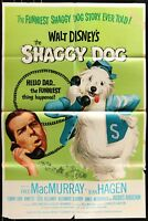 Walt Disney THE SHAGGY DOG Annette 1967 VINTAGE 1-SHEET MOVIE POSTER 27 x 41