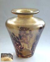 Vase irisierend Kunst Sammler Glas signiert glass signed iridescent verre