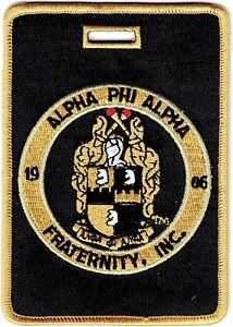 Alpha Phi Alpha Fraternity, Inc. Round Crest Luggage Tag [Black/Old Gold - 3....