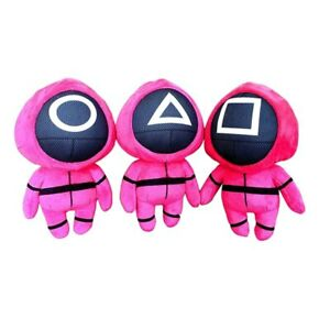 Squid Game Plush Doll Toy Villain Red Doll Cute Soft Stuffed Pillow dolls Gifts