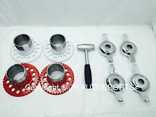 4 wire wheel adapters 2 Bar Zenith Cutout chrome knock offs Spinners hammer