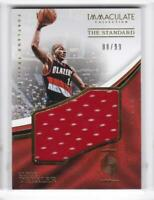 2016-17 Clyde Drexler #/99 Jersey Panini Immaculate Blazers Collection
