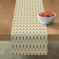Table Runner Prairie Style Neutral Geometric Arts And Crafts Gold Cotton Sateen