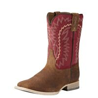 ARIAT Kids Relentless Brown Tan  Elite Square Toe Western Boots 10021597 NIB
