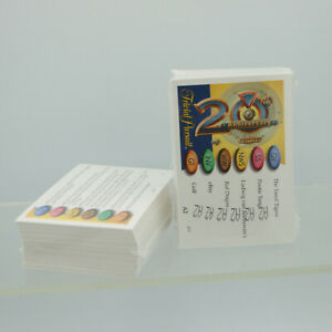 STILL SEALED A1 + A2 Card Sets Trivial Pursuit 20th Anniversary 2002