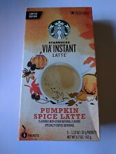 Starbucks Via Instant Pumpkin Spice Latte Coffee 5 Packets Limited Edition