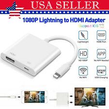 Lighting to HDMI Digital Audio AV TV Converter Cable For iPad iPhone7 8 X 11 Pro