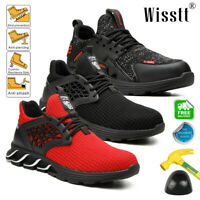 Men's Indestructible Slip Resistant Safety Shoe Work Boot Steel Toe Cap Sneaker