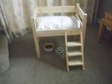 CUTEST SOLID PINE HIGH SINGLE BED FOR YOUR CAT OR SMALL DOG