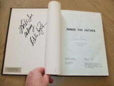 SIGNED 1973 Honor Thy Father & Fuzz Brothers 2 Scripts Vaccaro Gossett Jr FOY HC