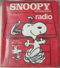 Snoopy Woodstock AM Transistor Radio With Box