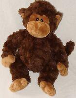 "Ty Classic Brown Tan Plush Bungle Monkey Chimp Soft Stuffed Animal Toy 2009 13"""