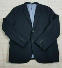 Banana Republic Men's Sport Coat Jacket Navy Non Iron Tailored Slim Fit Size 46R
