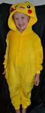 Pikachu Pokemon Full Halloween Costume Fits Kids Size 6-7-8 S Small Girls & Boys