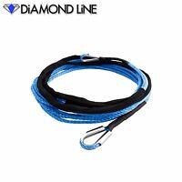 "25' x 3/16"" Extension Diamond Braid Synthetic Rope Line ATV UTV Winch Cable"