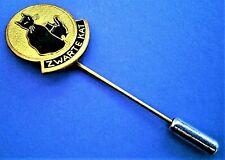 H220*) Vintage enamel Zwarte Kat Black Cat Coffee Tea Advert tie lapel pin badge