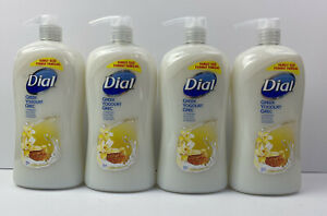 4x Dial Greek Yogurt Vanilla Honey Body Wash Shower Gel 32oz Large Pump Bottle