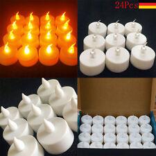 24er Set LED Teelichter Teelicht Elektrisch Kerze Kerzen Flackernde Tea Lights