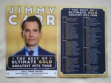 JIMMY CARR Live Best of Ultimate Gold tour UK & Ireland 2016 promo flyers x 2
