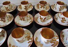 RARE 12 tasses litron époque Art Nouveau / Déco peint main à l'or édition KAZA