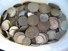 200X VERY GOOD CLEAN WORLD SILVER COLOURED COINS FREE UK POST